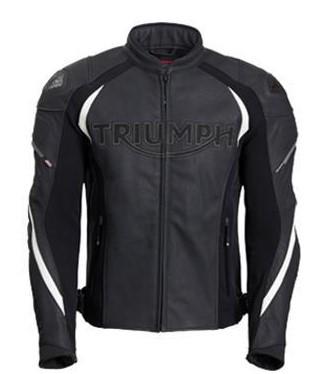 TRIUMPH Triple Motorjas Zwart / Wit