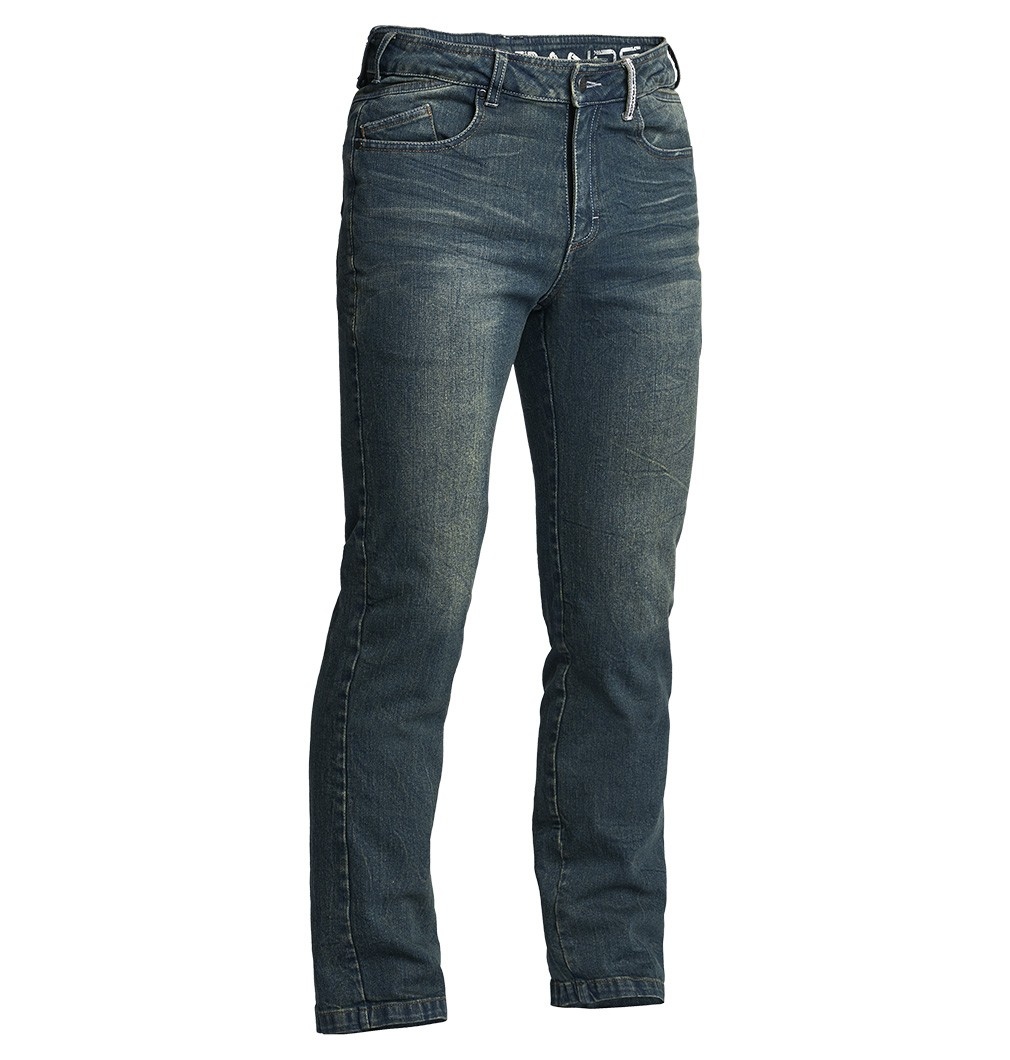 Lindstrands Mayson Stretch Motorjeans Blauw