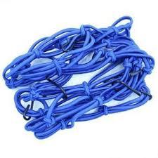 Bagagenet 6 haken blauw