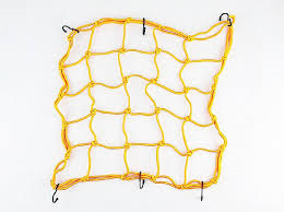 Bagagenet 6 haken geel