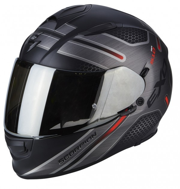 Scorpion EXO-510 Air Route Helm zwart / rood