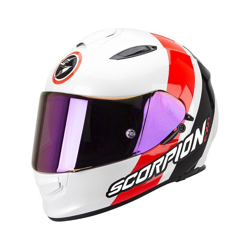 Scorpion EXO-510 Air Helm Hero Pearl White-Neon Red-Black