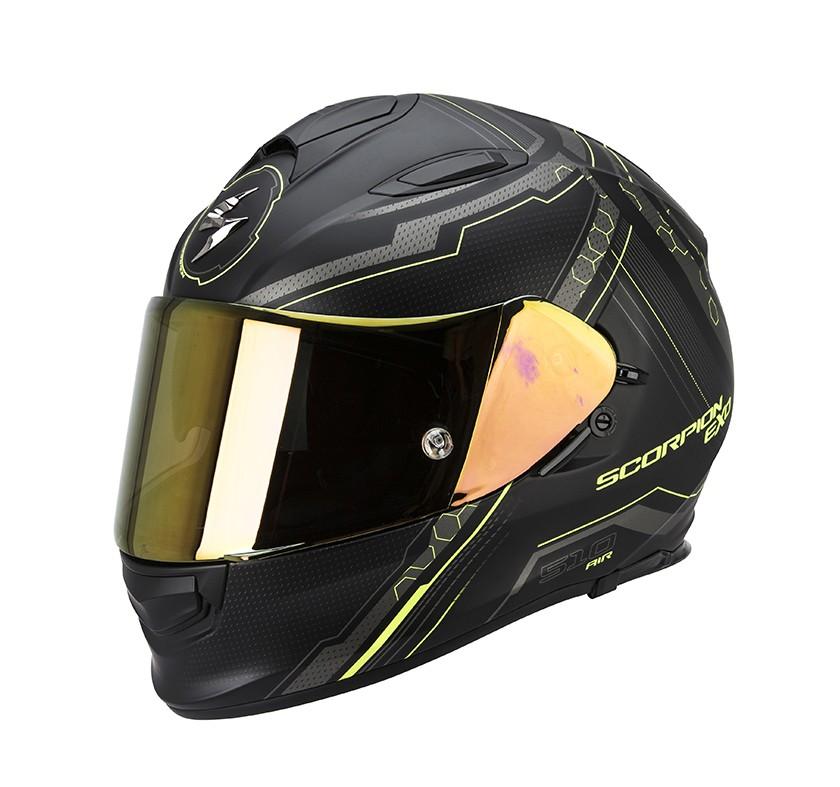 Scorpion EXO-510 Air Helm Sync Matte Black-Neon Yellow
