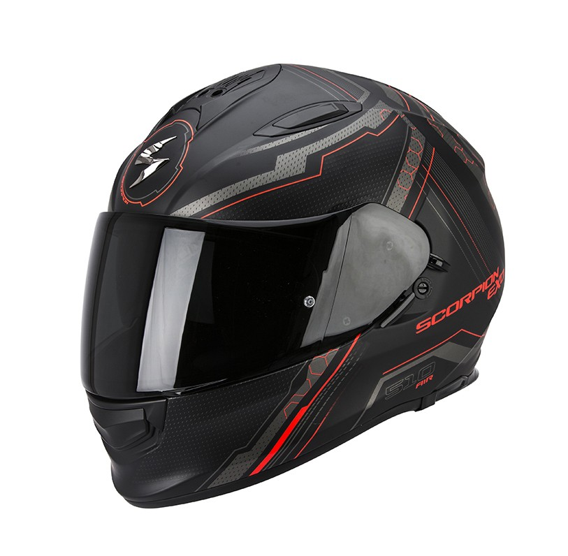 Scorpion EXO-510 Air Sync Matte Black-Neon Red