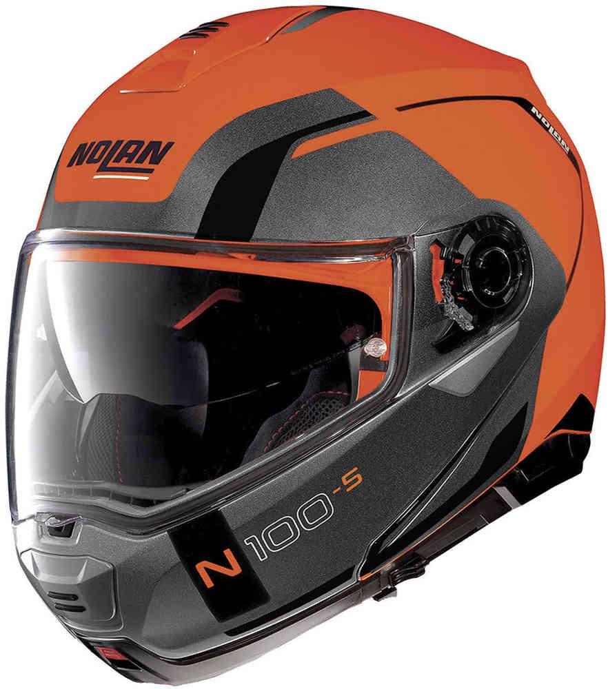 NOLAN N100.5 Motorhelm Consistency 27 Flat Led Orange