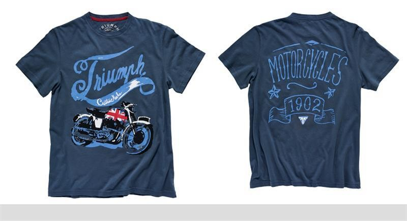 TRIUMPH Union Bike Tee Navy Shirt