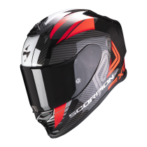 SCORPION Exo-R1 Air Motorhelm Halley Mat Zwart / Rood
