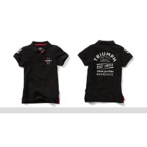 TRIUMPH Mens Black Polo