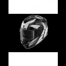 SHARK Spartan GT Elgen Motorhelm Zwart / Antraciet / Wit