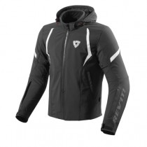 REV'IT! Burn Zwart/ Wit Softshell Motorjas