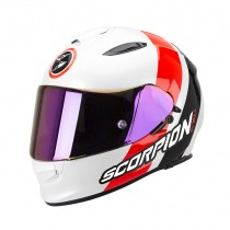 Scorpion EXO-510 Air Helm Hero Pearl White-Neon Red-Black