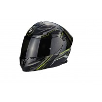 Scorpion Exo-920 Helm Satellite Metal Black Neon Yellow