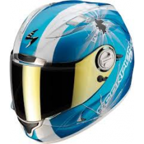 Scorpion EXO-1000 Air Helm Hi Impact Blauw