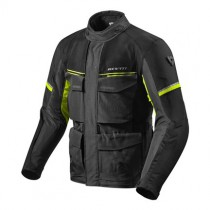 REV'IT! Outback 3 Motorjas Zwart/Fluo