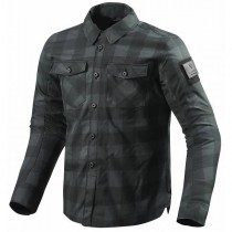 REV'IT! Bison Overshirt Motorjas Zwart/Grijs