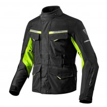 REV'IT! Outback 2 Motorjas Zwart/Fluo