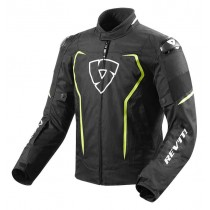 REV'IT! Vertex H20 Motorjas Zwart / Fluo