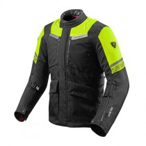 REV'IT! Neptune 2 GoreTex Motorjas Zwart / Fluo