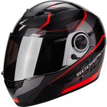 Scorpion Exo-490 Vision Helm Zwart / Neon Rood