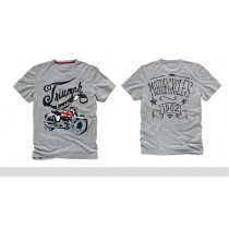 TRIUMPH Union Bike Tee Grey